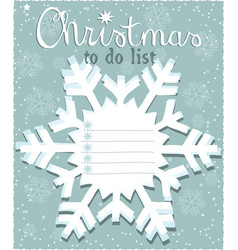 Christmas to do list vector