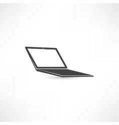 computer notebook icon vector image vector image