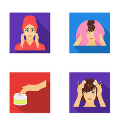 cosmetic salon hygiene and other web icon in vector image