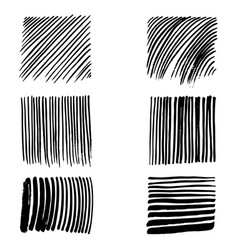 doodles set of strokes vector image vector image