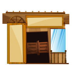Doors on building in western style vector