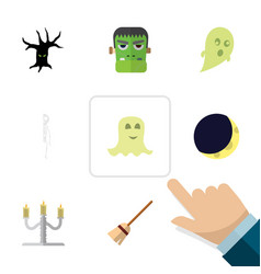 flat icon celebrate set of spirit terrible vector image
