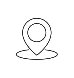 geo location pin line icon vector image