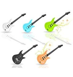 Guitar icon set vector