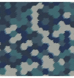 Hexagon halftone background vector