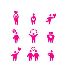 Love valentine icons vector