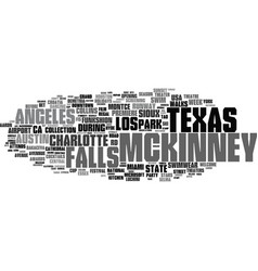 mckinney word cloud concept vector image
