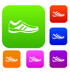 Men sneakers set collection vector