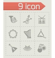 Music instruments icon set vector