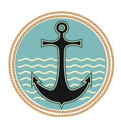 nautical anchor symbol vector image