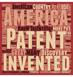 Patents american greatness text background vector