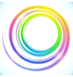 Rainbow abstract circle frame vector