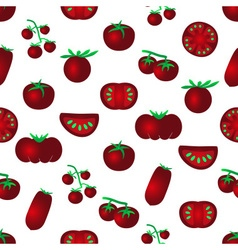 red color tomatoes simple icons seamles pattern vector image vector image