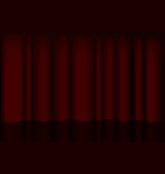 Red spotlight on stage curtain for exhibitions and vector
