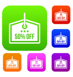 sale tag 50 percent off set collection vector image vector image