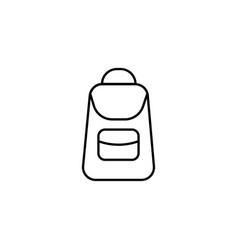 school backpack icon vector image vector image
