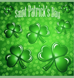 St patricks day abstract background vector