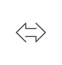 Sync arrows line icon communication arrowheads vector