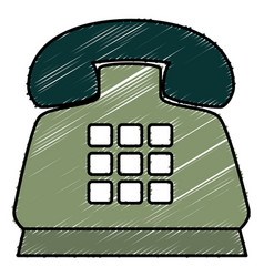 Telephone service isolated icon vector