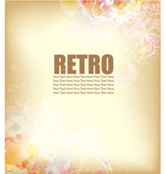 vintage watercolor background vector image vector image