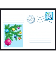 Winter envelope vector image vector image