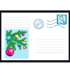 Winter envelope vector