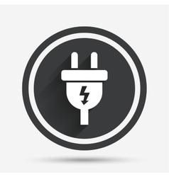 Electric plug sign icon power energy symbol vector