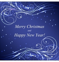 Christmas and new year greeting card vector
