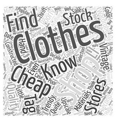 Cheap clothing word cloud concept vector