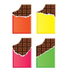 dark chocolate bars vector image