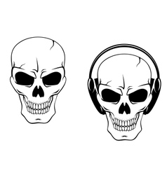 Danger skull in headphones vector