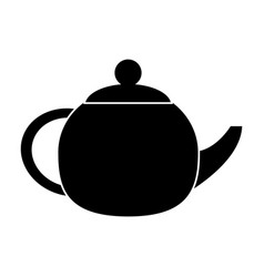 Teapot beverage ceramic pictogram vector