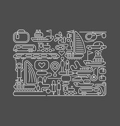 travel line art vector image