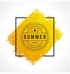 Summer sale banner online shopping on grunge brush vector