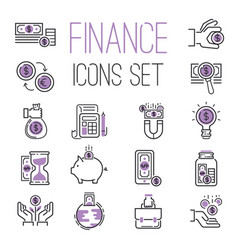 Money finanse banking icons business safety online vector