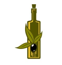 Bottle of virgin olive oil vector image