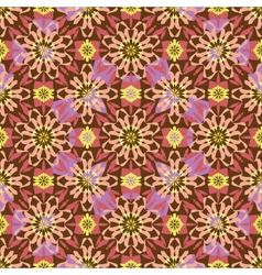 Seamless background oriental ornament kaleidoscope vector image