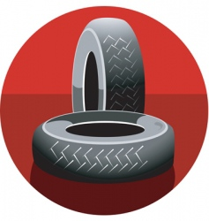 Rubber tyres vector