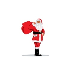 Santa claus with sack of gifts vector
