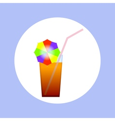 Cocktail in circle vector