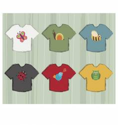 t-shirt designs vector image