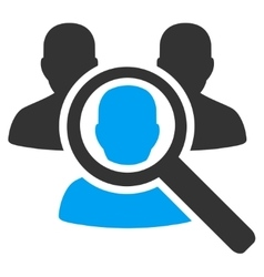 Search patient icon vector