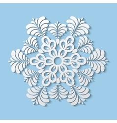 Paper snowflake winter decoration vector