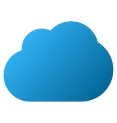 Cloud gradient icon vector
