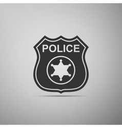 Police badges icon vector image