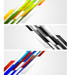Abstract banners with geometric shapes vector image vector image