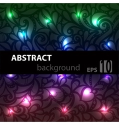Abstract disco glowing pattern on background vector image
