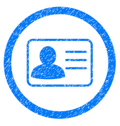 Account card rounded grainy icon vector
