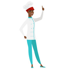 african chef cook pointing with her forefinger vector image vector image