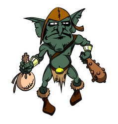 cartoon image of goblin vector image vector image